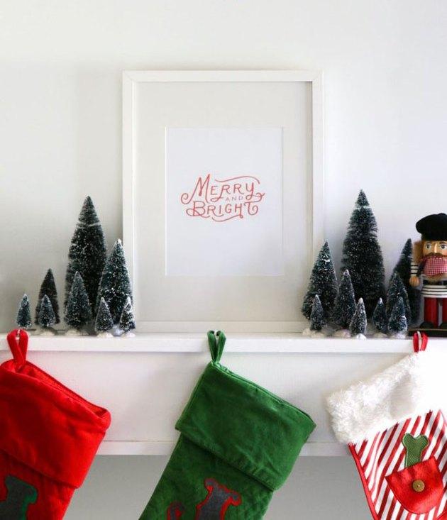 holiday framed art