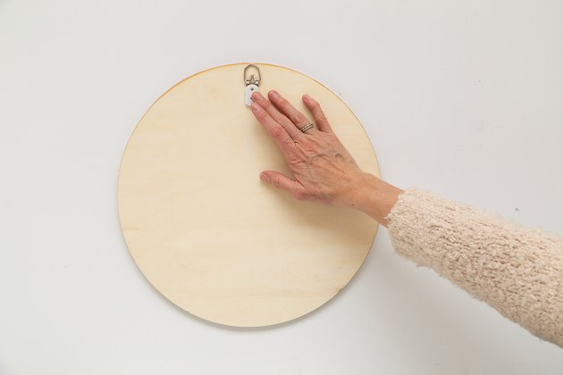 DIY Circle Mirror with wrapped rope