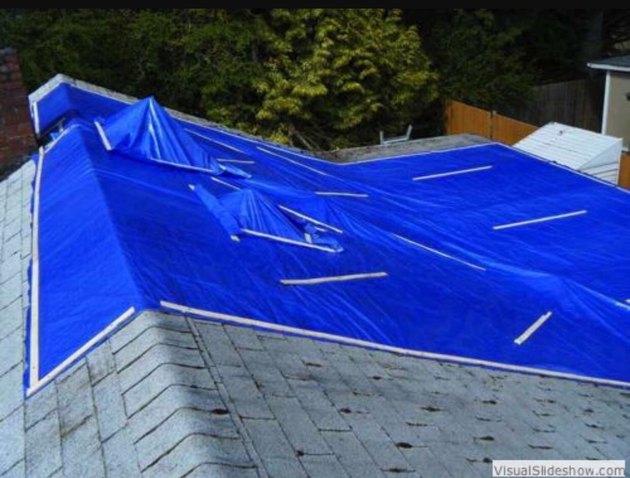 A roof tarp.