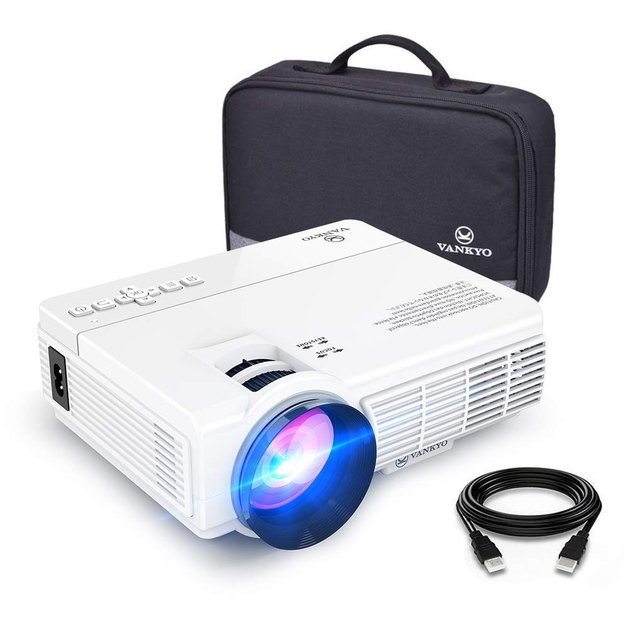 white mini projector