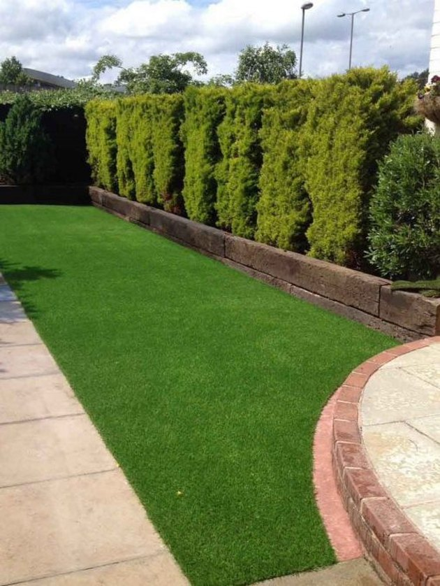 An artificial lawn in England.