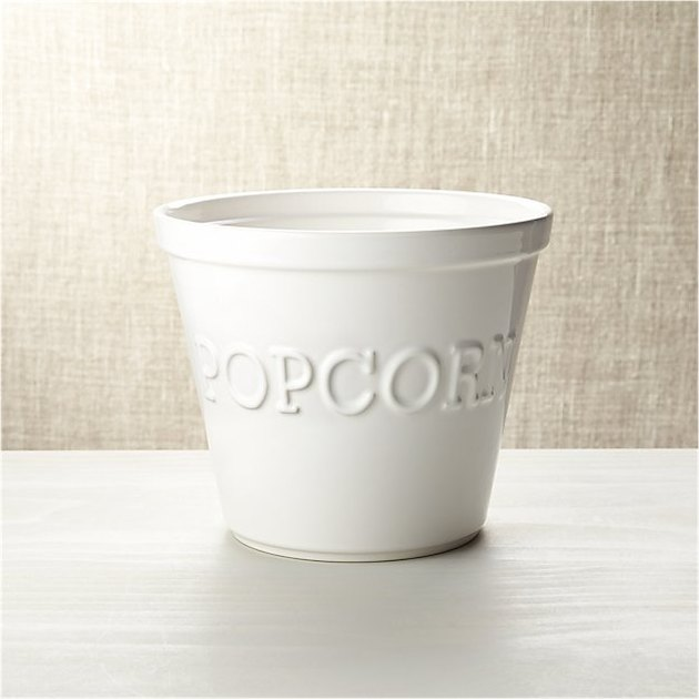 white ceramic popcorn bowl