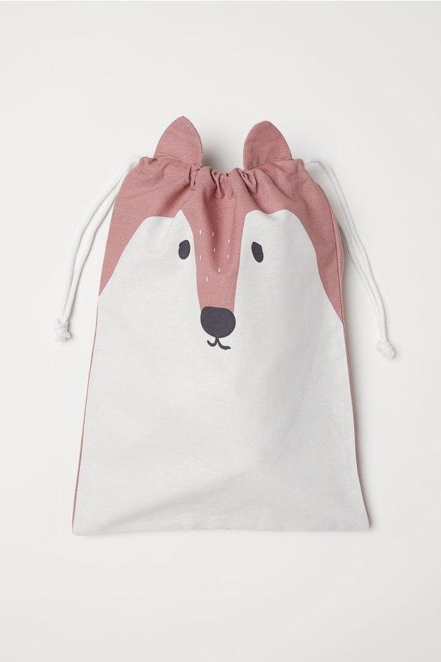 fox drawstring storage bag