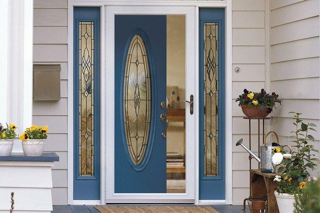 Clear storm door.