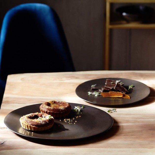 neutral ceramic platters