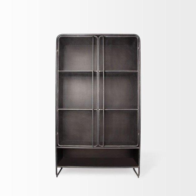 black industrial freestanding kitchen cabinet