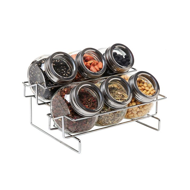 mygift jars and metal container rack