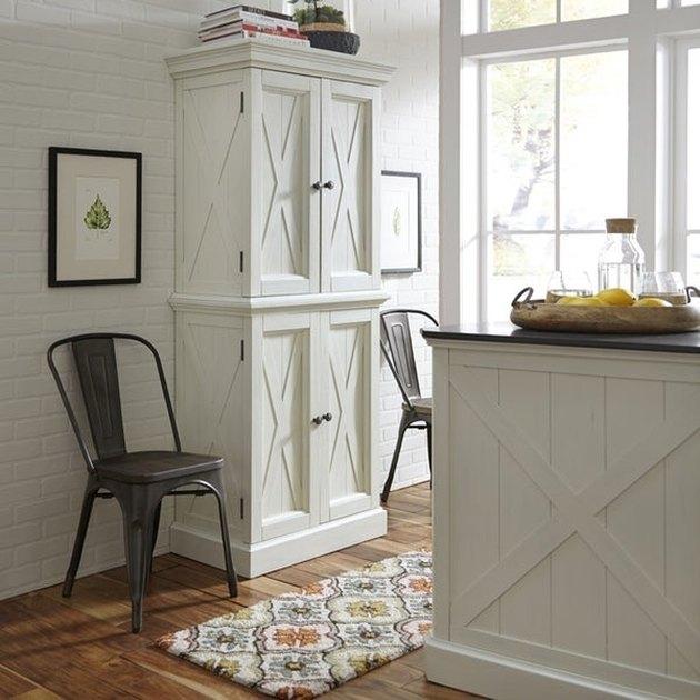 coastal inspired freestanding kitchen cabinet