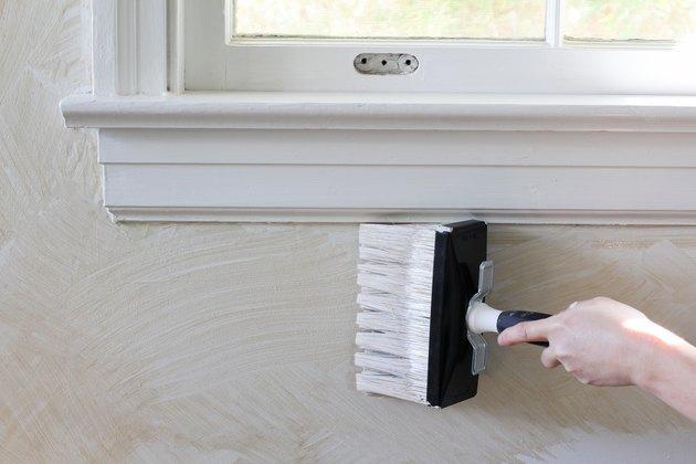 Painting limewash around window trim