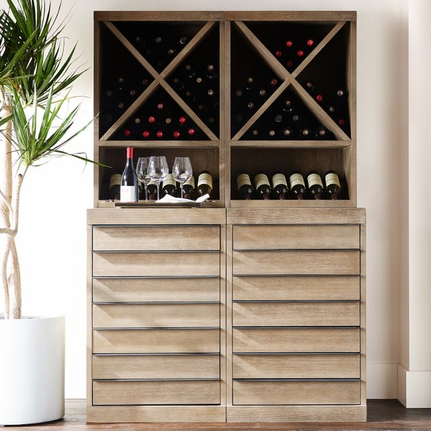 freestanding kitchen cabinet idea for the wine lover
