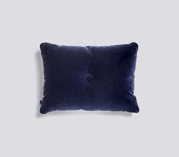 hay dot cushion in navy