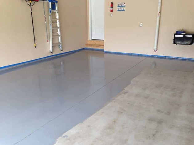 Epoxy garage floor paint.