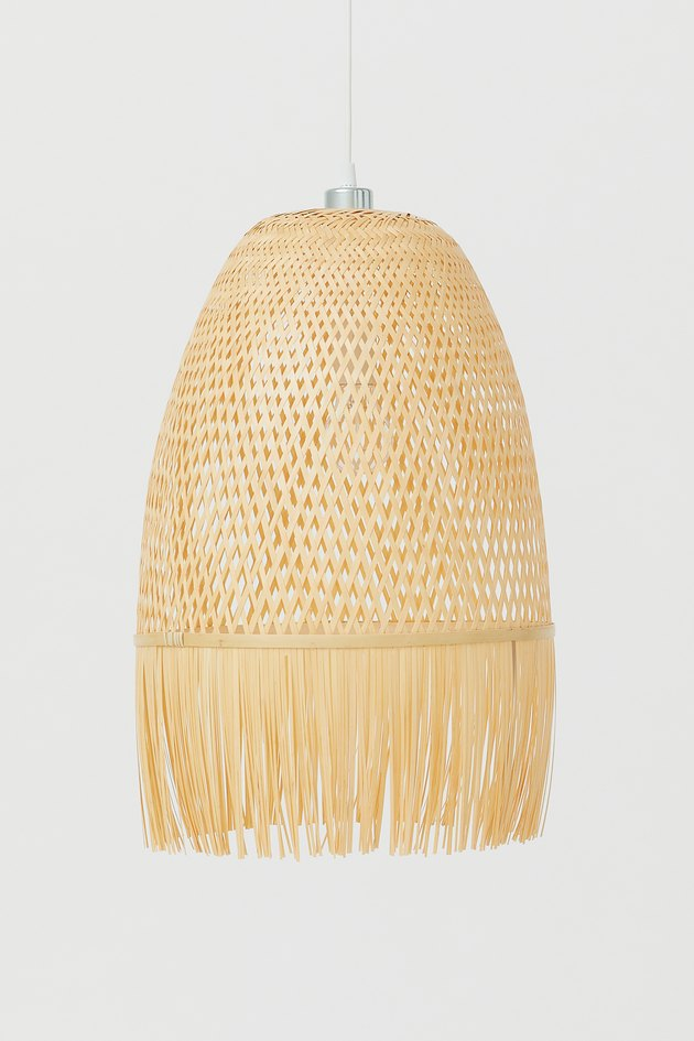 Fringed lampshade from H&M Home's 2020 collection