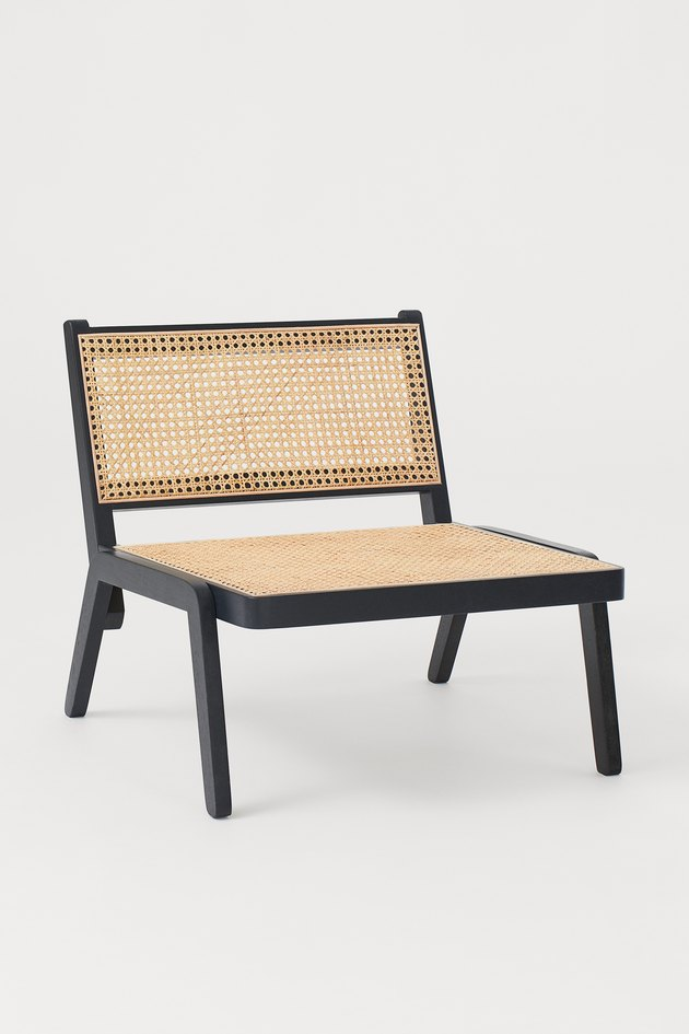 Wicker chair from H&M Home's 2020 collection