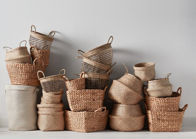 Wicker baskets from H&M Home's 2020 collection