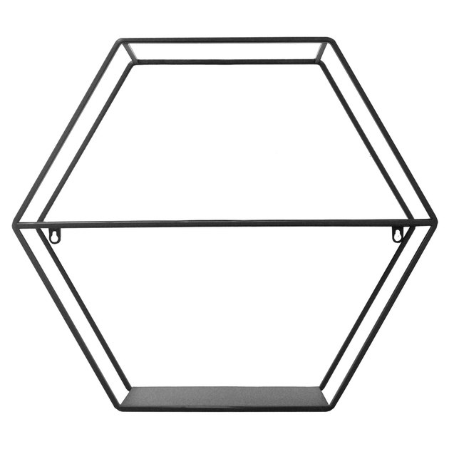 Black wire hexagonal shelf
