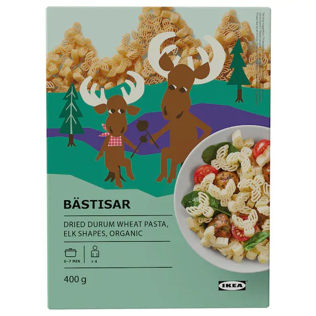 box with two elks that reads bästisar in bold letters