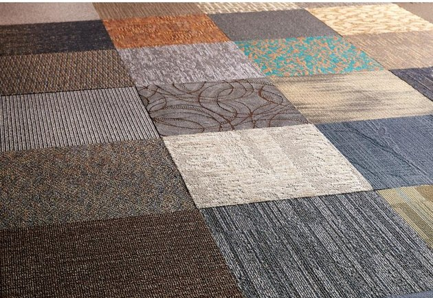 assorted carpet tiles