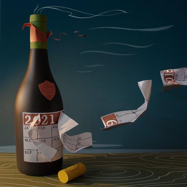 illustration of wine bottle