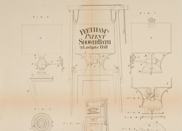 Drawing of William Feetham's shower patent, c. 1767