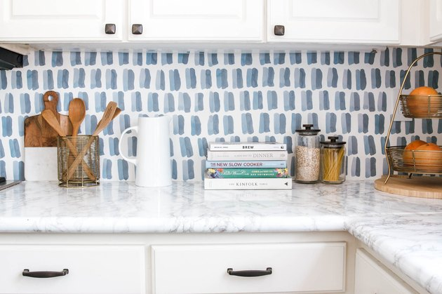DIY Kitchen Wallpaper Backsplash idea by Anita Yokota