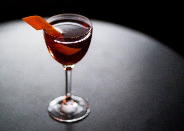 The Reverse Manhattan or Berretto Da Notte, a nightcap created by Ms. Newman.