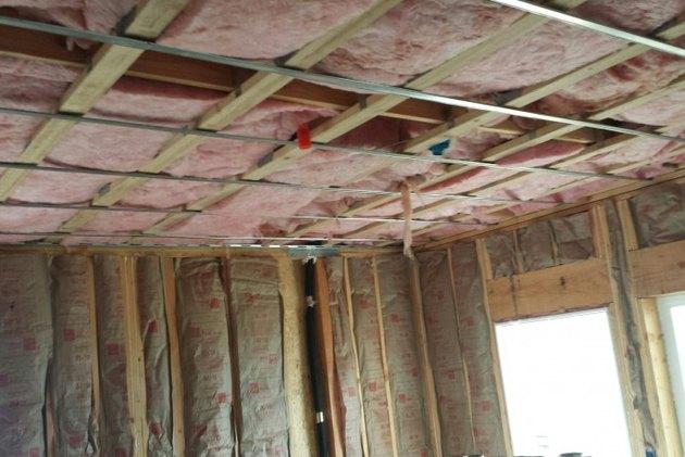 Ceiling under construction.