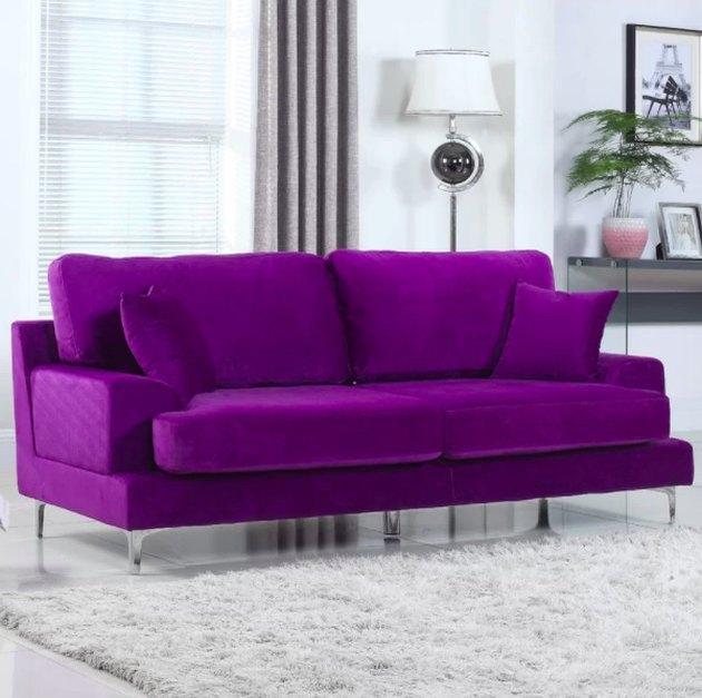 wayfair sofa in ultra-violet