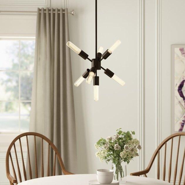 slim sputnik dining room chandelier