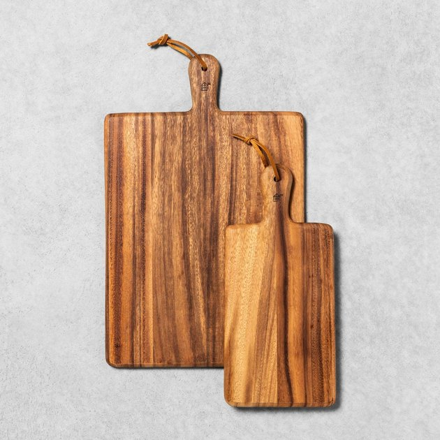 wood cutting boards with handles
