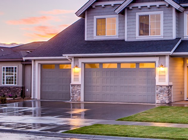 House with attached garage.