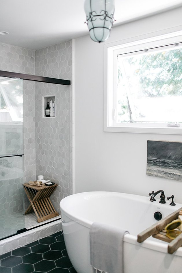 gray shower tile ideas SF girl by bay