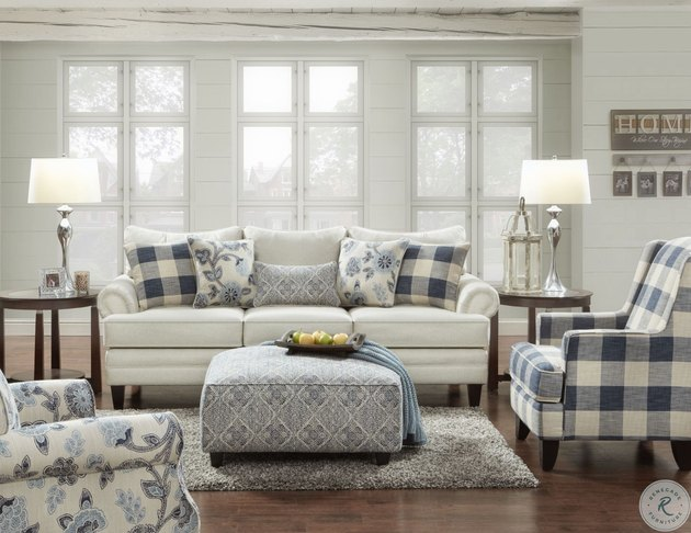 natural linen living room sofa set