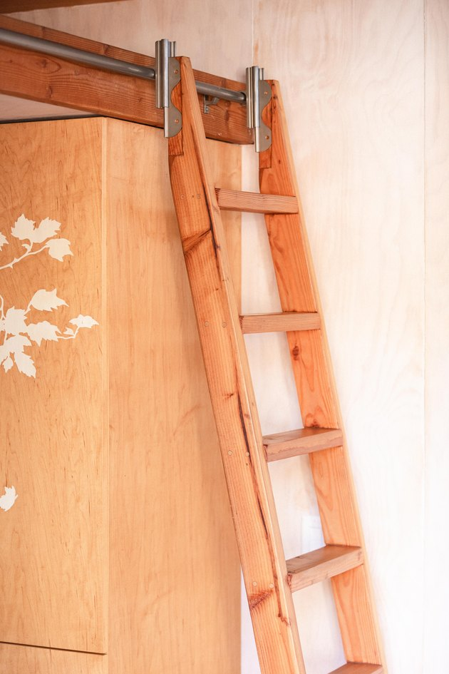 Sol Haus Design tiny home ladder to bed area