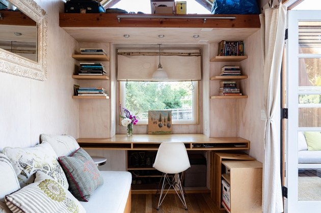 Sol Haus Design tiny home desk and couch