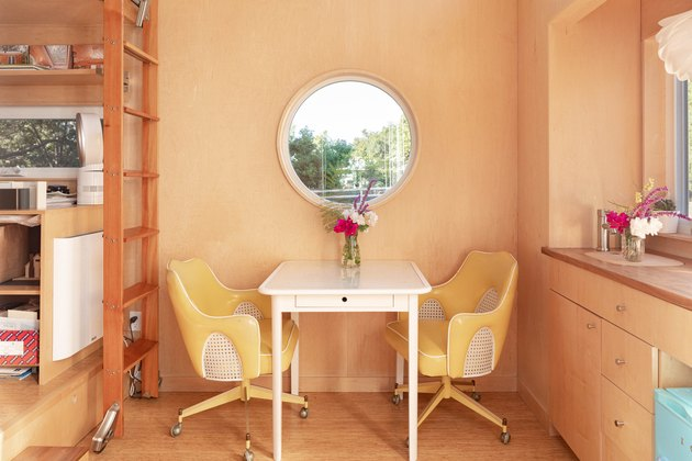 Sol Haus Design tiny home table and chairs in office