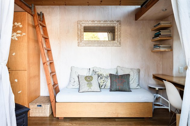 Sol Haus Design tiny home living area with couch