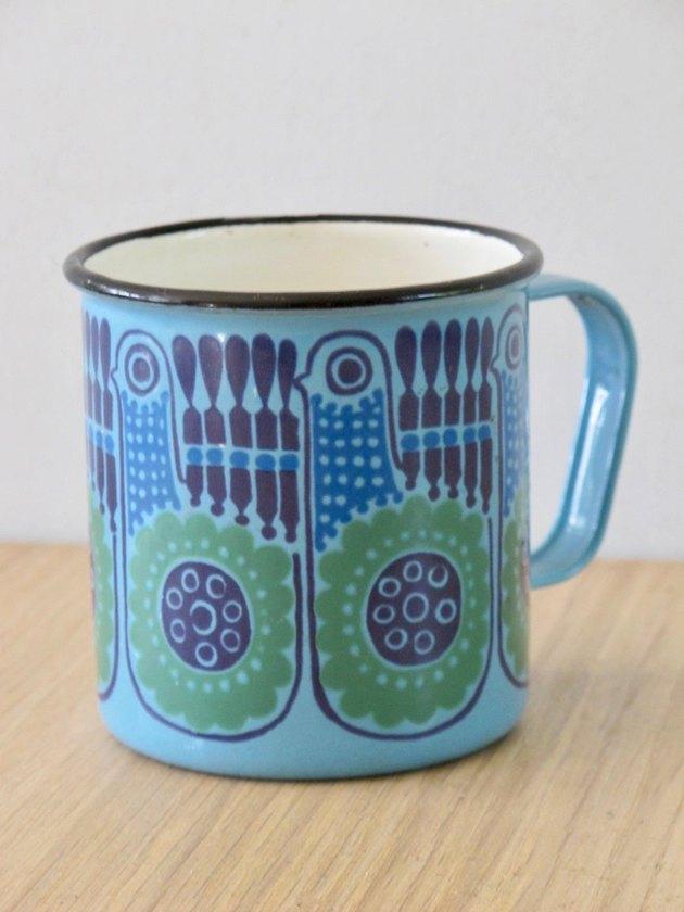 Enamel Bird Mug, $45