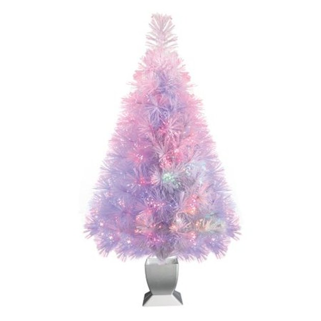 white color changing light Christmas tree