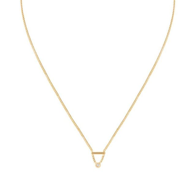 Astrid & Miyu Diamond Bar Necklace