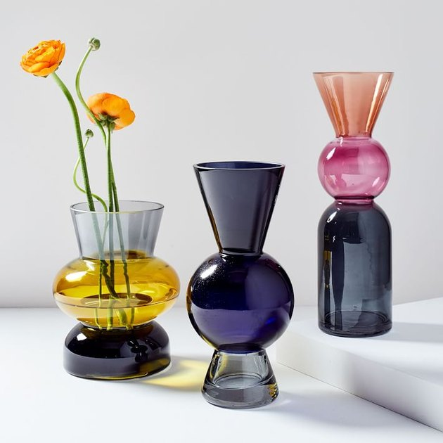 West Elm Totem Colored Glass Vase