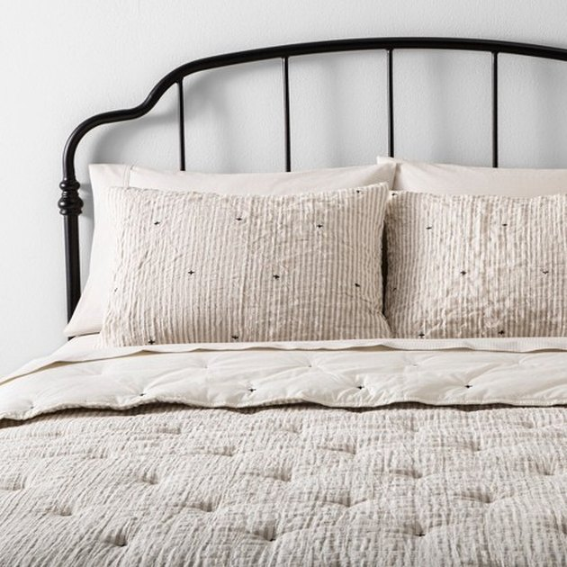 farmhouse bedding idea from Target Hearth and Hand with Magnolia