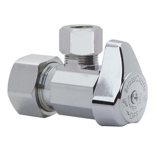 Quarter-turn toilet shutoff valve