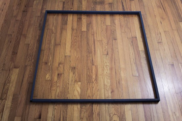 Wood frame painted black