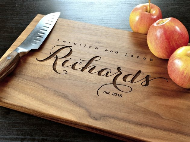cheese board with text