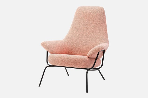 lounge chair in coral