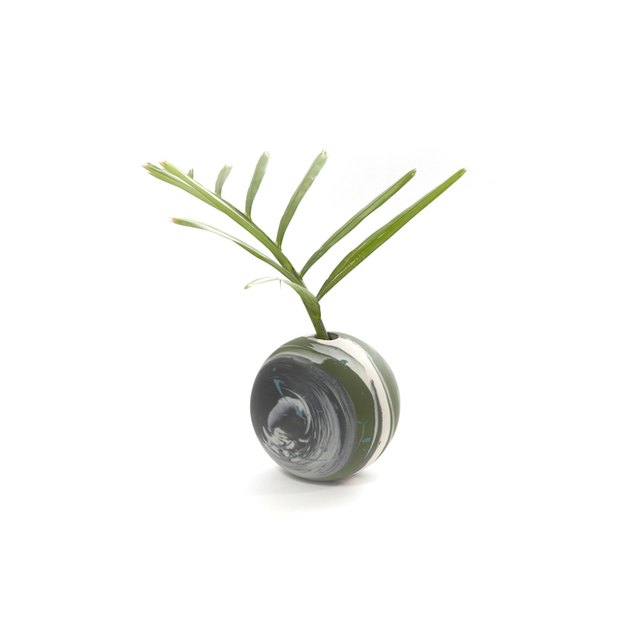 Sarah Cihat Mini Globe Vase, $70
