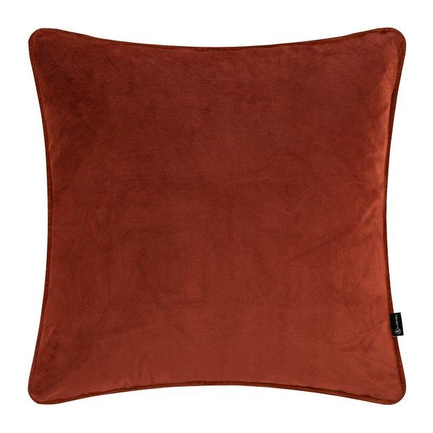 orange velvet throw pillow