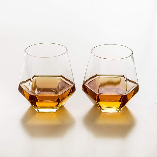 geometric drinking glasses set