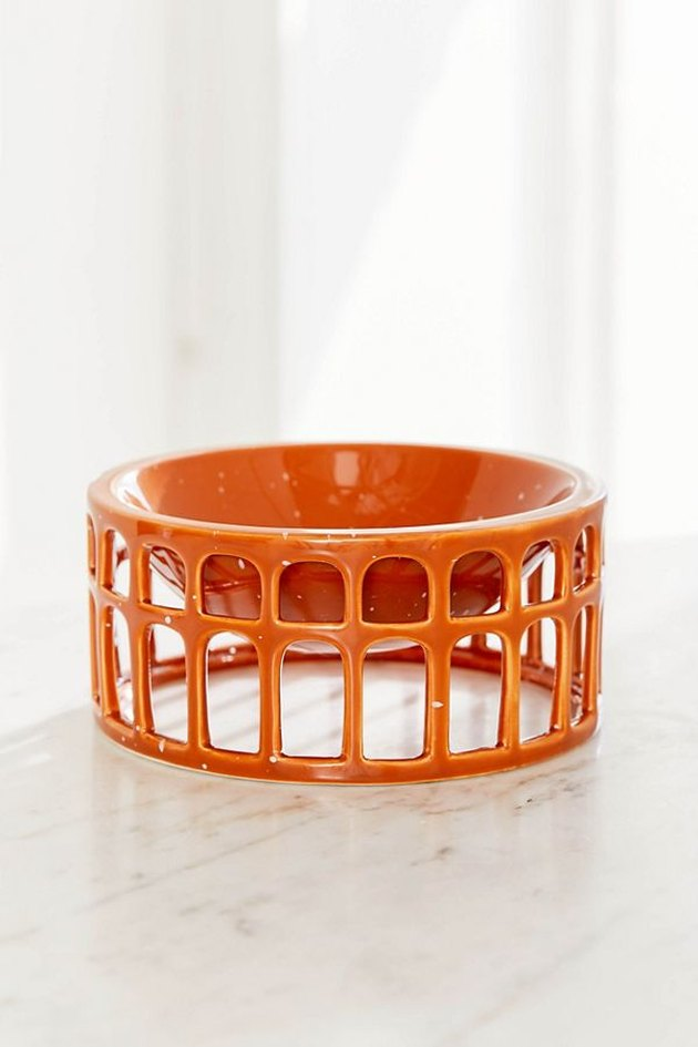 sculptural orange terra-cotta bowl from Urban Outfitters